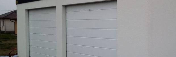 blaszak tynkowany - garaż blaszany